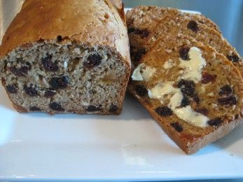 Cranberry, pear and almond loaf