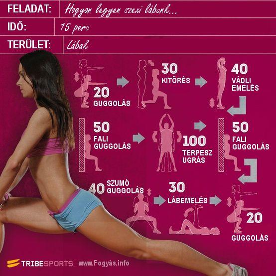 Lábgyakorlat - 15 perces láb edzésterv otthonra