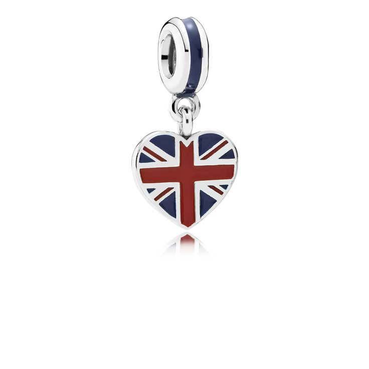 Great Britain Heart Flag Pendant Charm - Pandora UK | PANDORA eST