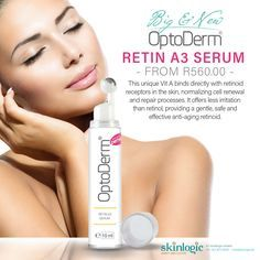 BIG and NEW! OPTODERM RETIN A 3 SERUM This unique Vit A binds directly with retinoid receptors in the skin, normalizing cell renewal and repair processes. It offers less irritation than retinol, providing a gentle, safe and effective anti-aging retinoid.