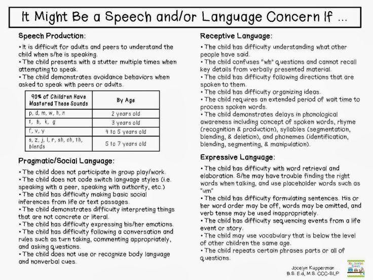It Might Be a Speech and/or Language Concern If ... - Speechie Freebies
