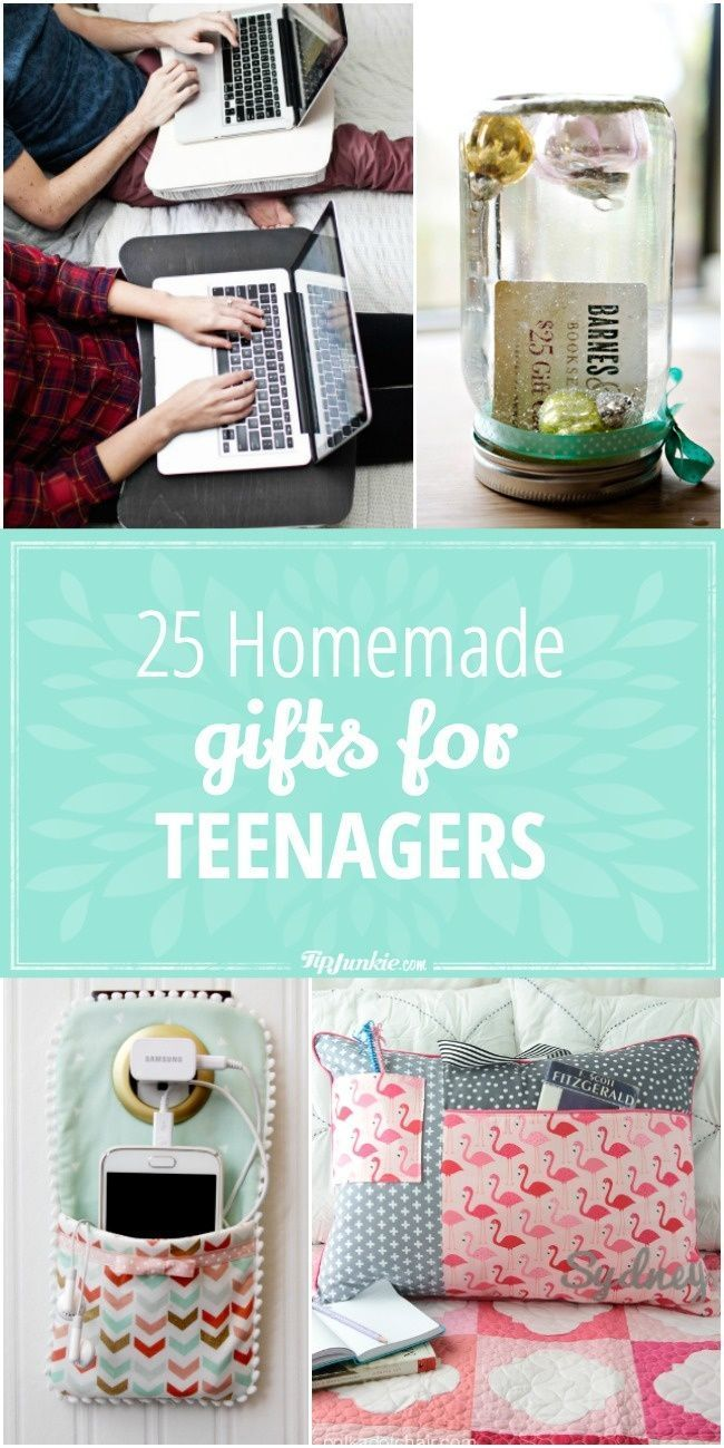 25 Homemade Gifts for Teenagers via @TipJunkie