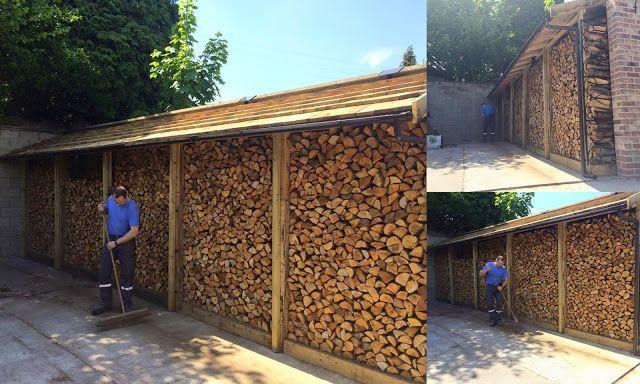 Mon blog parmi tant d'autres... Lechatmorpheus: Construction d'un abri à bois de chauffage - palet...