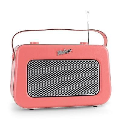 AKAI APR 220 POSTE RADIO ROSE LOOK RETRO TUNER AM FM AUX POUR LECTEUR CD ET MP3