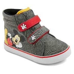 Mickey Mouse Toddler Boys' High Top Sneakers - Grey : Target