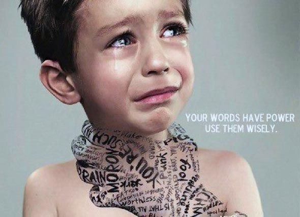 This breaks my heart but it is so true.  Use your words and your inner voice wisely.