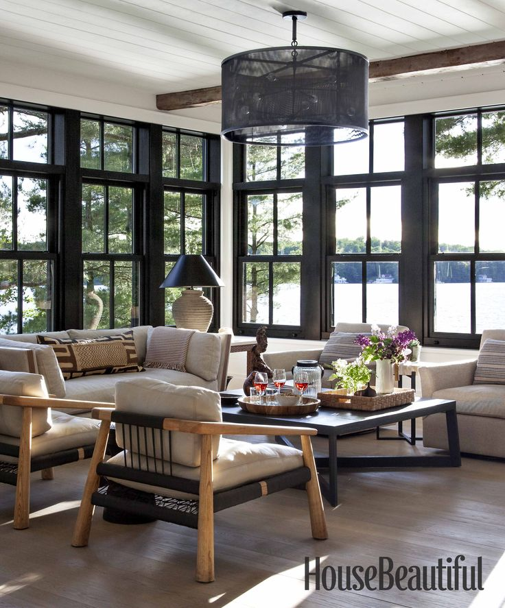 Modern Lake House Design: Interior Designer Anne Hepfer's Modern Rustic Summer Lake