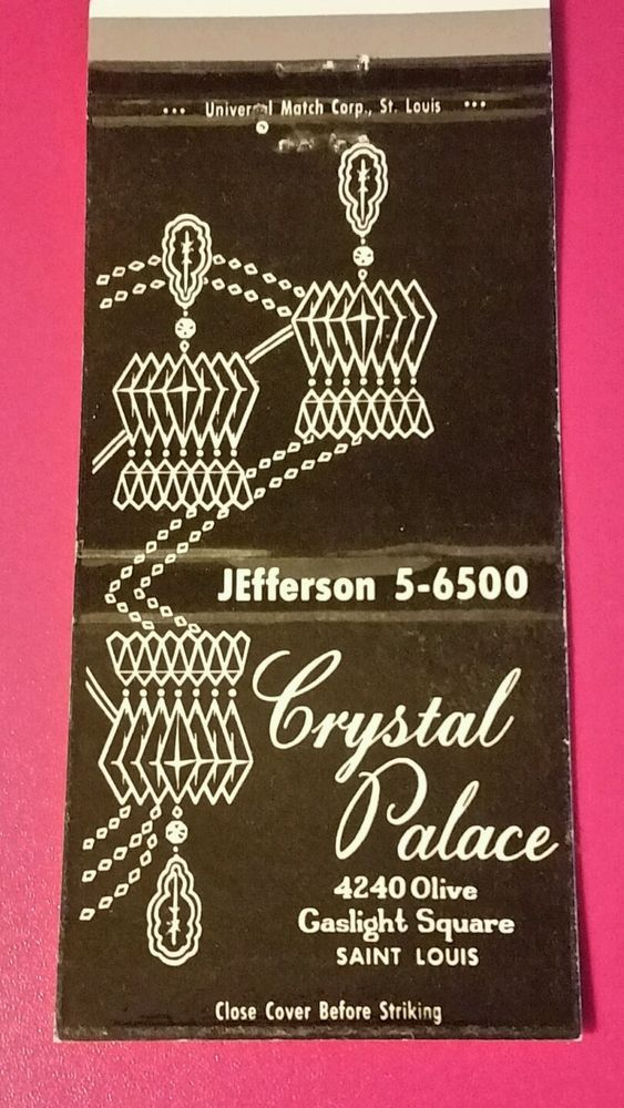 CRYSTAL PALACE SAINT LOUIS, MISSOURI Matchbook Matchcover in Collectibles, Paper, Matchbooks | eBay