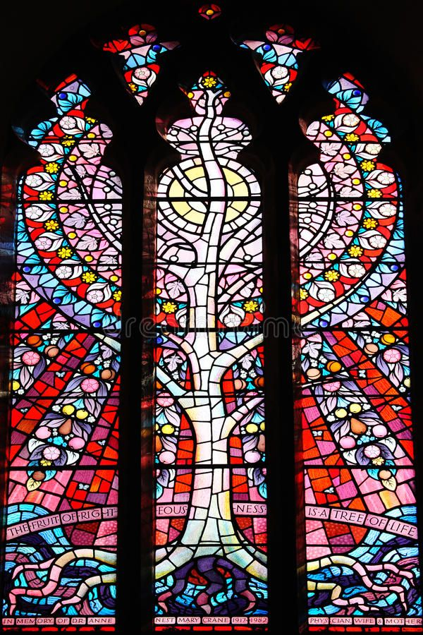 Tree Of Life Stained Gl Window At