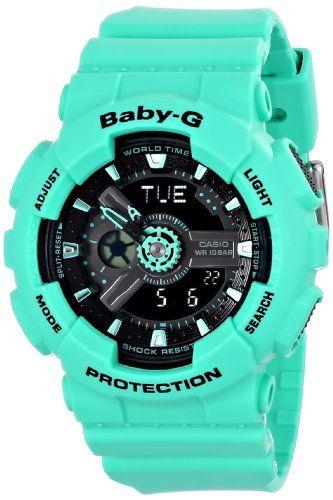 Now in stock Casio Women's BA-111-3ACR Baby-G Analog-Digital Display Quartz Green Watch