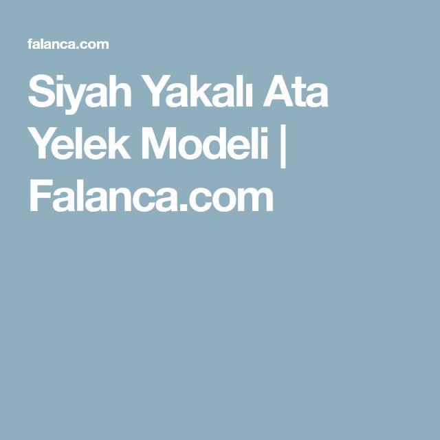 Siyah Yakalı Ata Yelek Modeli | Falanca.com