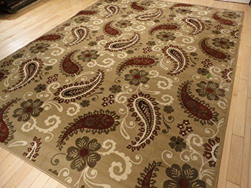 Large 8x11 Premium Oriental Rugs Thick Traditional Beige Cream Burgundy Tan 8x10 Persian For