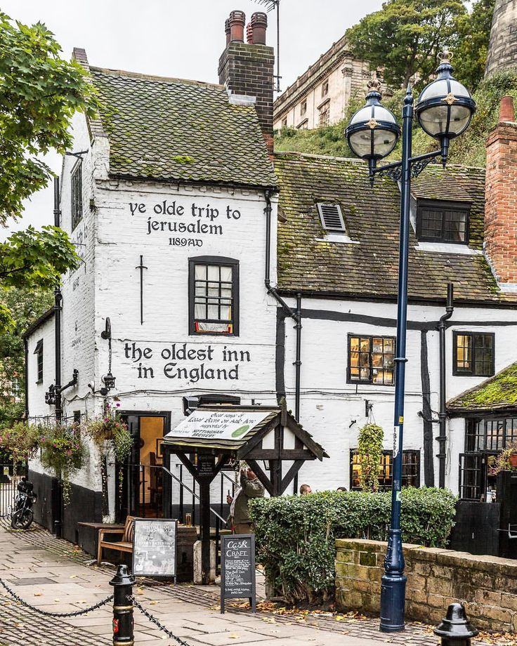 The Ye Olde Trip to Jerusalem pub in Nottingham is said to be the oldest pub in England. #england #nottingham #pub #uk
