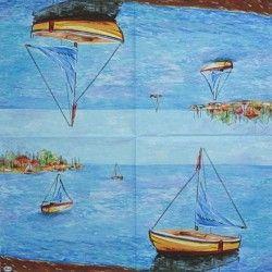 Lodě na moři 33x33