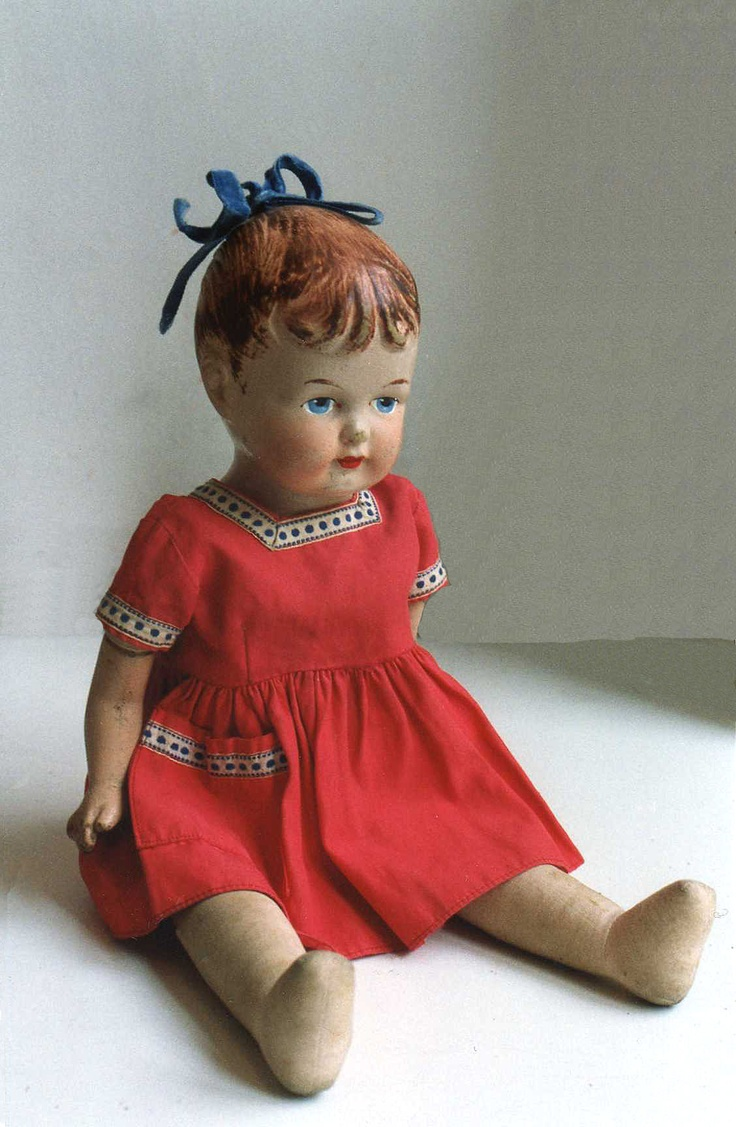 Doll with pony tail, rubber head. Owner Annika Salmenkivi.