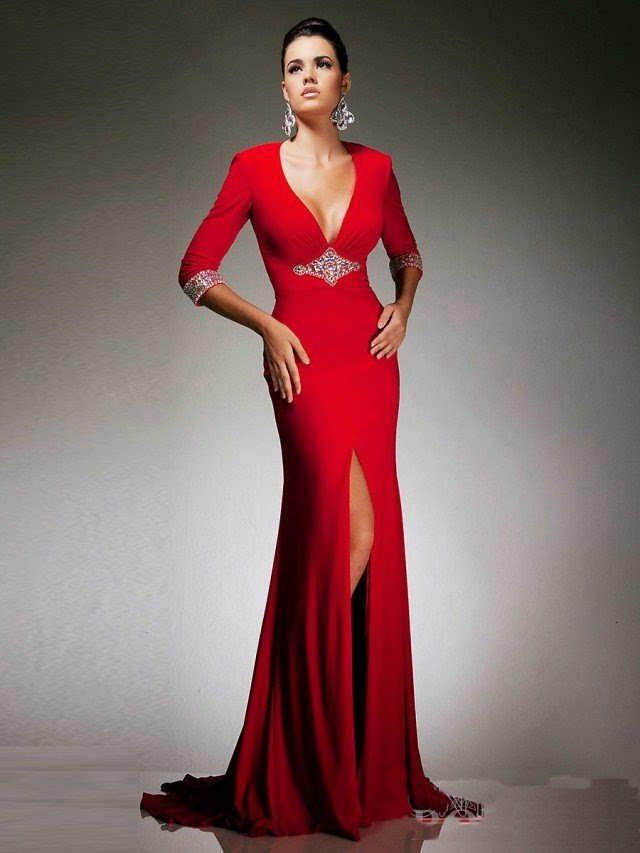 Maquillaje para un vestido rojo - Para Más Información Ingresa en: http://vestidoscortosdemoda.com/maquillaje-para-un-vestido-rojo/