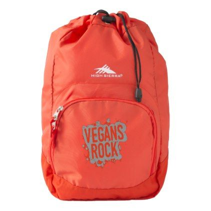 Paint Splatter VEGANS ROCK (gry) High Sierra Backpack - animal gift ideas animals and pets diy customize