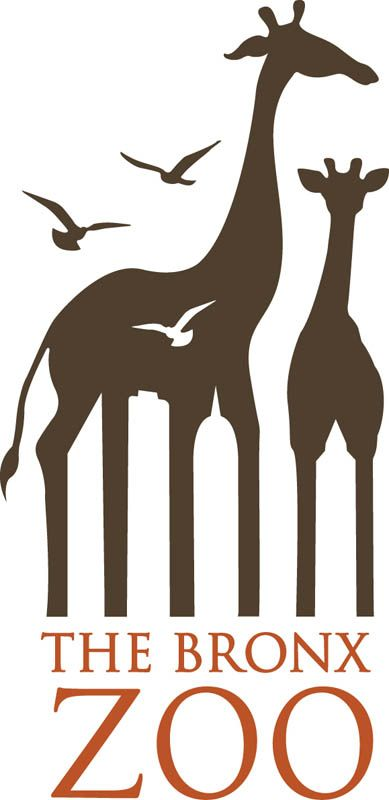 Another 'negative space' gem is the Bronx Zoo logo, where New York's iconic skyline of tall buildings can be found between the legs of the giraffes.