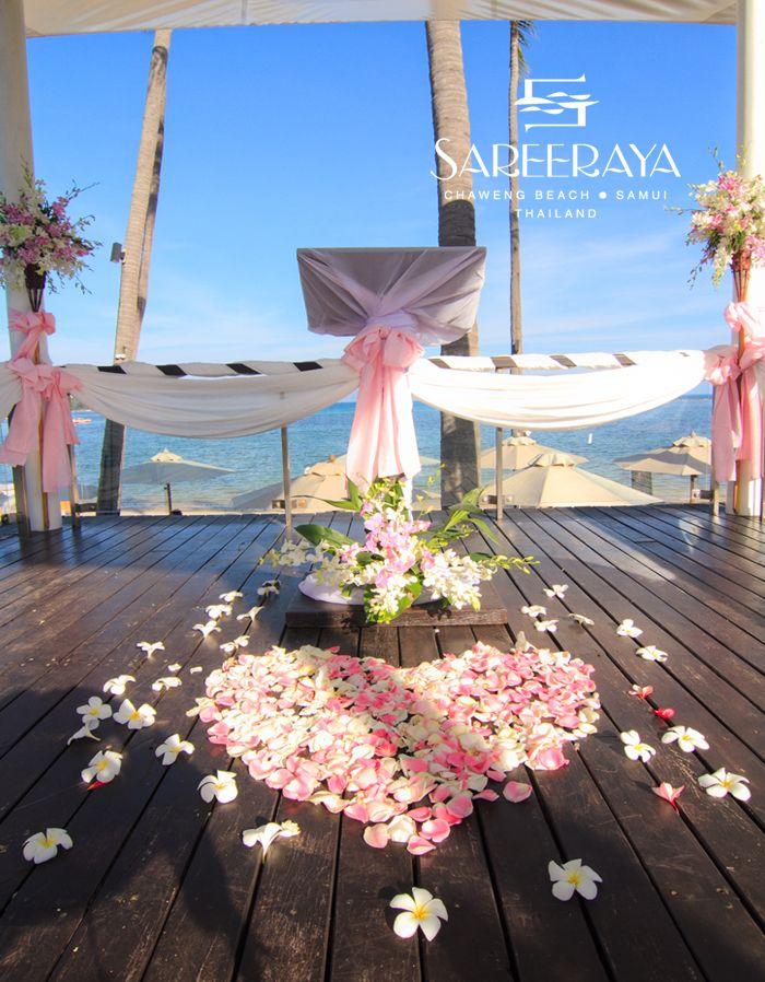 Romantic couples wedding with pink theme at Sareeraya Villas & Suites, Thailand  www.islandescapes.com.au