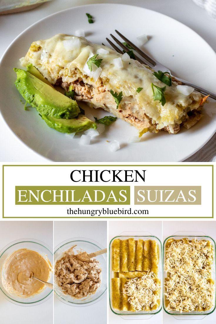 Chicken Enchiladas Suizas Creamy Chicken Enchiladas Verde Recipe In 2020 Enchiladas Suizas Easy Enchiladas Chicken Enchiladas Verde