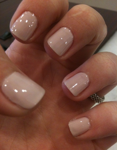 The perfect neutral...  Essie: topless and barefoot :)