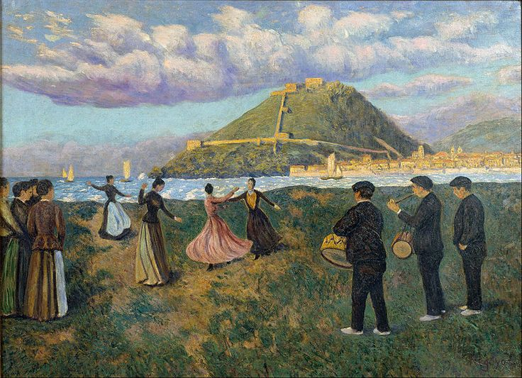 Fitxategi:Darío de Regoyos - Basque Celebration (dance at El Antiguo, San Sebastián) - Google Art Project.jpg