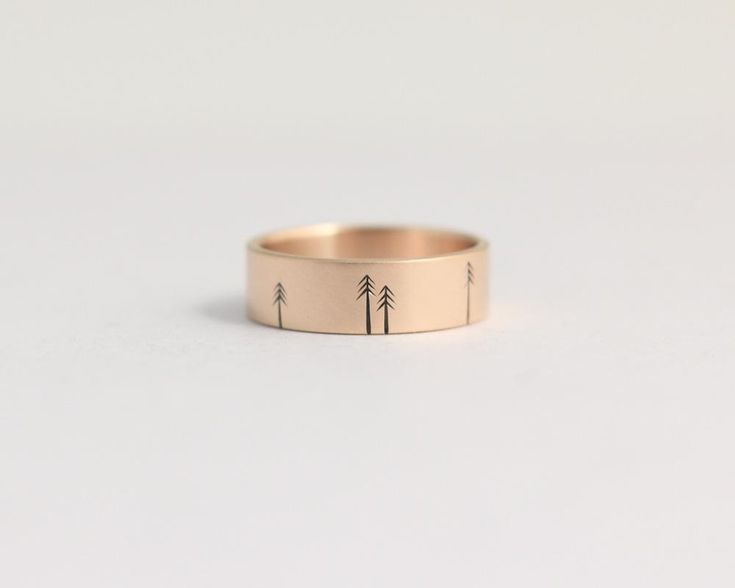 Pine Forest Ring in Rose Gold - Medium