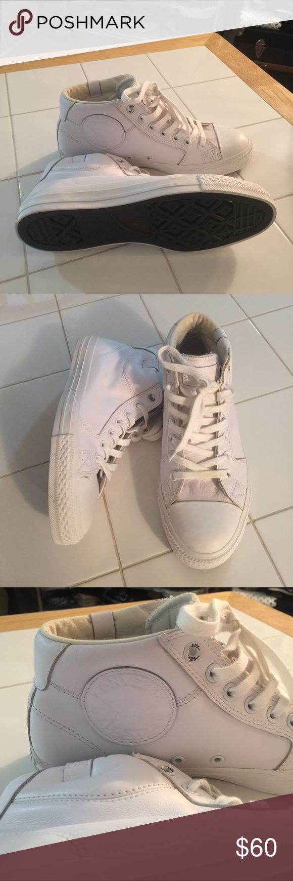 Wiz Khalifa Converse Shoes All white Wiz Khalifa edition converse. Size 8 in men therefore 9 1/2 in women. Worn once and they are to big for me. Converse Shoes Sneakers