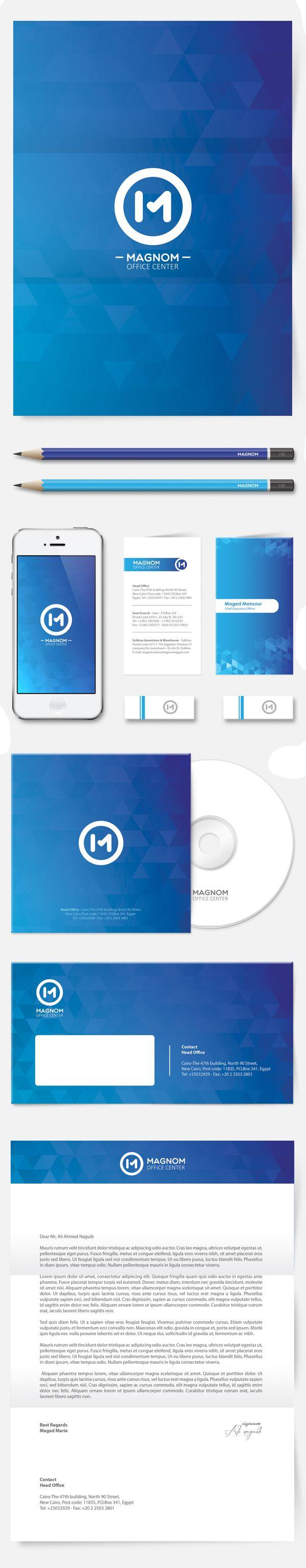 Magnom - Logo Guidelines & Branding identity by Ali Naguib, via Behance