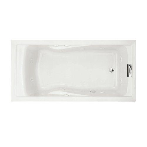 American Standard 7236VC.020 Evolution Deep Soak Whirlpool Bath Tub with EverClean and Hydro Massage System I, White, 6-Feet by 36-Inch
