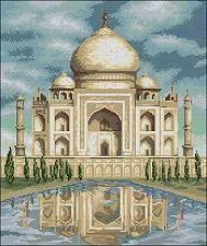 graficos de punto de cruz gratis con dibujo del Taj Mahal