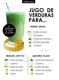 Jugo de verduras para perder grasa / reducir apetito / abdomen plano.