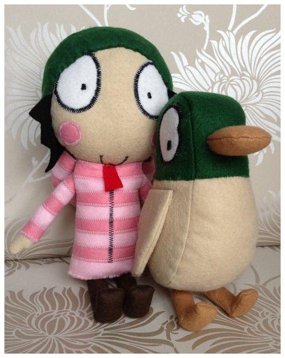 Sarah & Duck Felt Characters
