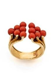 CORAL AND 14K YELLOW GOLD CUFF BY CHAUMET, CIRCA 1930