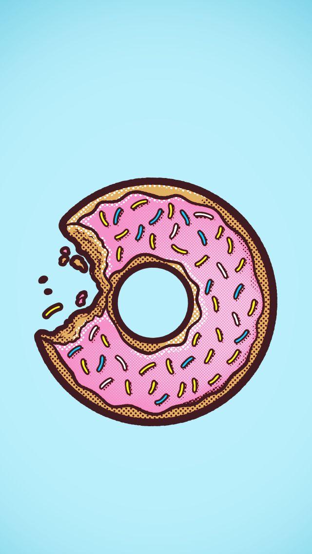 Fondo de pantalla dona (donut).-                                                                                                                                                                                 Más