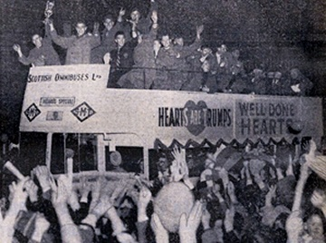 Hearts celebrate in the 50s.