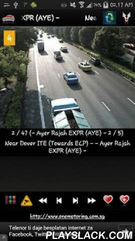 Cameras Singapore - Traffic  Android App - playslack.com ,  ★ Cameras Singapore - Traffic cams is free application that allow you to watch traffic cameras from Singapore / Singapura★ Application contains more than 50 Singaporean traffic cameras (CCTV, live images, webcams) in first release !!!Cameras are grouped in 13 groups:- Ayer Rajah EXPR (AYE) - - Bukit Timah EXPR (BKE) - - Central EXPR (CTE) - - East Coast Parkway (ECP) - - Kallang-Paya Lebar EXPR (KPE) - - Kranji EXPR (KJE)…