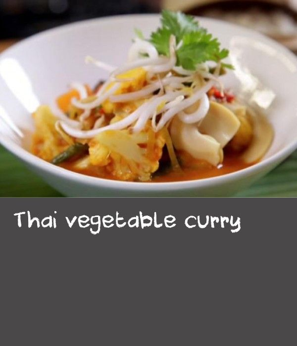 Thai vegetable curry |      With their attention-grabbing flavours, Thai curries are real crowd-pleasers. This version can be made vegetarian by leaving out the shrimp paste.(This recipe makes more Thai red curry paste than you need for one meal. Spoon the remaining paste into a sterilised jar and seal tightly. It can be stored in the fridge for up to one month. Alternatively, spoon the paste into ice cube trays and freeze for up to three months.)