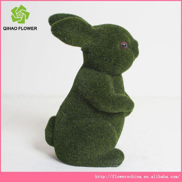 Muschio artificiale del coniglio decorazione, ornamenti da giardino verde erba coniglio