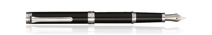Sailor Barcarolle Fountain Pen in black with silver trim