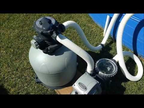 Upgraded above ground pool pump - YouTube