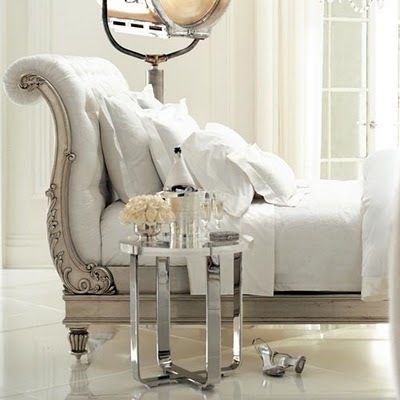 SILVER chaise #home decor