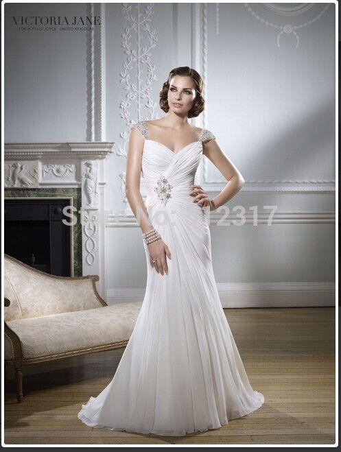 ... collo chiffon tessuto maniche bianca spiaggia di abiti da sposa