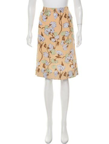 Prada Silk Knee-Length Skirt ($62.50)