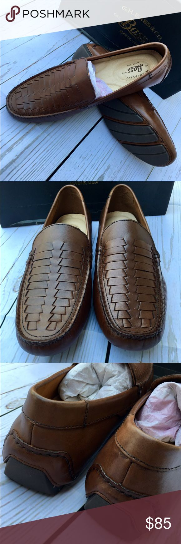 🇺🇸TODAY ONLY🇺🇸NIB MEN'S G.H.BASS DRIVING SHOES True to size. Genuine leather. Bass Shoes Loafers & Slip-Ons