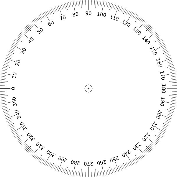 Printable Full 360 Protractor