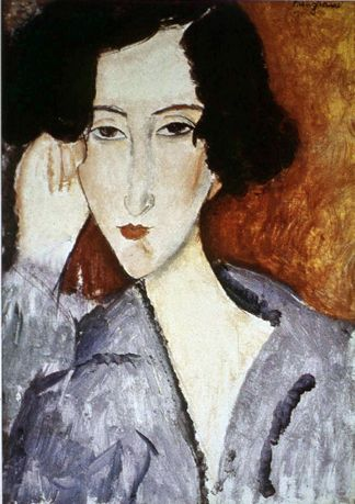 Portrait of Madame Rachele Osterlind Amedeo Modigliani (1919) Private collection Painting - oil on canvas ~Via Cezar-Nelu Mitran
