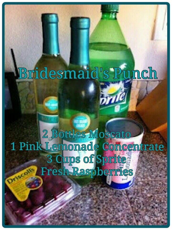 Bridesmaids punch! Probably use sugar free juice and club soda instead ;)