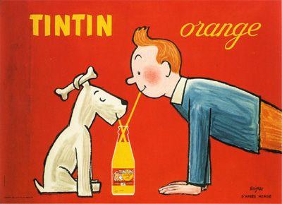 Tintin. Savignac. Vintage poster.