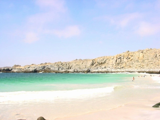 Playa La Virgen una de las mejores playas del pais, ubicado en la tercera region